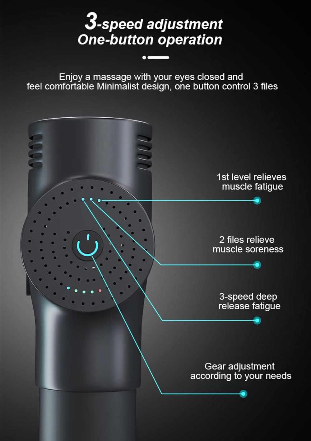 Frekuensi Tinggi Pijat Gun Otot Bersantai Tubuh Relaksasi Electric Massager dengan Portable Tas untuk Kebugaran Phoenix A2