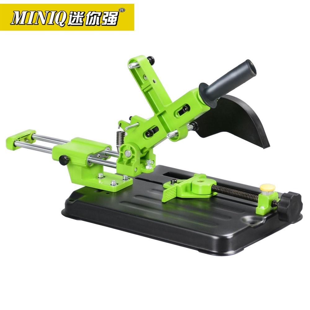 MINIQ BG612506 Universal soporte para lijadora en ángulo amoladora de ángulo de herramienta para trabajar la madera DIY corte amoladora de pie para 110mm 115mm 125mm