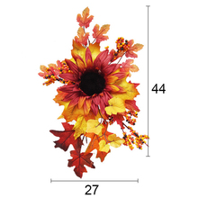 High Quality  27*44cm Artificial Leaves Decoration Silk Lifelike For Halloween Create A Warm Atmosphere