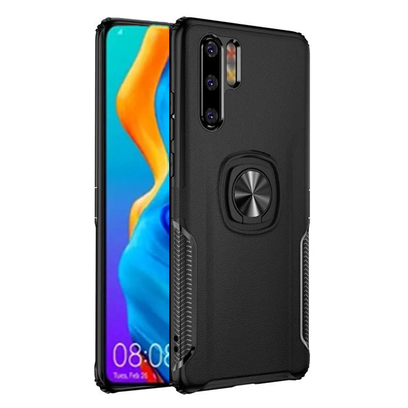 Shockproof Metal Ring Holder Armor Case For Huawei P30 Pro Silicon Phone Back Cover Lite P30Lite P 30