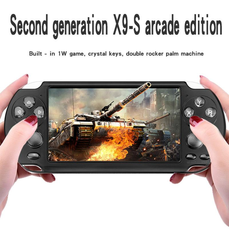 Built-in 10,000 games X9-S 8GB 5.1 Inch Handheld Game Players Handheld Game Player Video FM Camera Portable Game Console