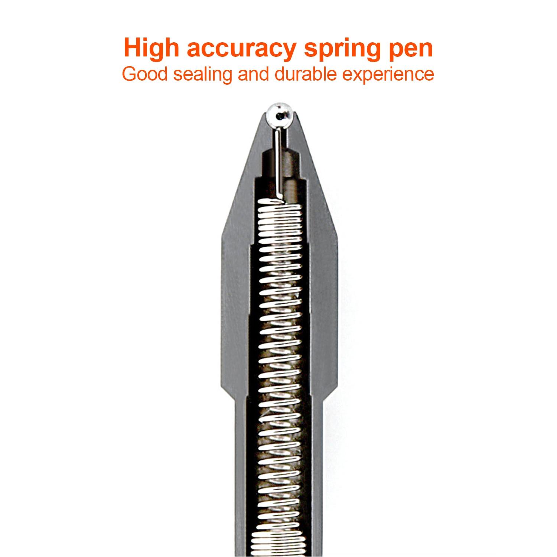 New Xiaomi Mijia 10Pcs Gel Pens No Cap 0.5mm bullet pen black pen White PREMEC Smooth Switzerland Refill MiKuni Japan Ink black
