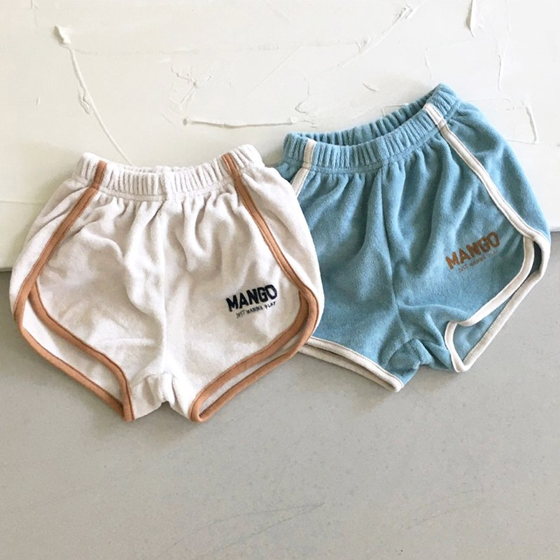 Casual Summer New Infant Baby Boy Letter Printed Stitching Shorts Toddler  Girl Cotton Letter Printed Pant