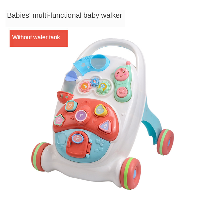 2020 new baby walker anti-rollover walker multifunctional early education toy hand push baby walker 7-24 months