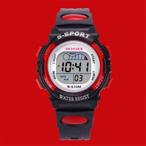2019 Waterproof Children Boy Multifunction Boy Digital LED Sports Waterproof Wrist Watch Kids Alarm Date Electronic Watch Gift Q Islamabad