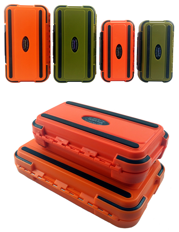 Fishing Tackle Tools Box Waterproof  Double Layer DIY Compartments Large Storage Case Waterproof Fly Carp Fishing Accessories