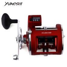 Yumoshi 12bb carretel de pesca de alta velocidade ac 30/50d 3.8:1/5.2:1 profundidade elétrica contagem esquerda/direita multímetro corpo fundido tambor