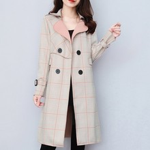 New Women Woolen coat Warm Long Sleeve Turn-down Collar Outwear Jacket Ladies Autumn Winter Casual Elegant Overcoat#g2 cheap Eillysevens Plaid Double Breasted Full 1114 Slim Button Broadcloth Polyester veste femme women s blend coat women s windbreaker