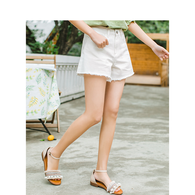 INMAN 2020 Summer New Arrival Literary Leisure High Waist Loose Slimmed A-line Denim Shorts