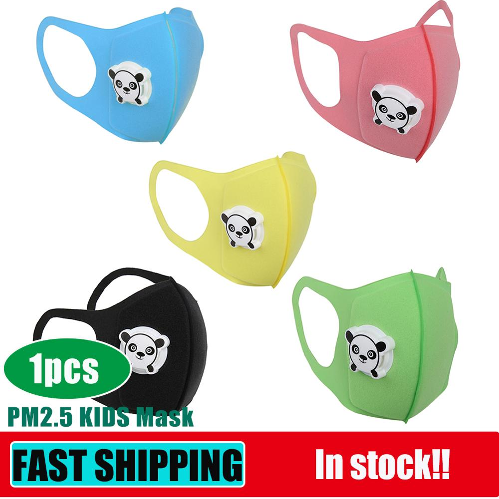 Baby Kids Sponge Dust Masks Respirator With Valve Cartoon Print Mouth Cover Children Dustproof Breathable Face Nose Filter Cover