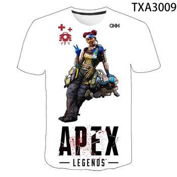 Games Apex Legends Casual Men Women Children 3D T Shirts  Fashion Short Sleeve Boy girl Kids Printed T-shirt Cool Tops Tee 2