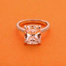 AINOUSHI, роскошное кольцо с подушкой 6 карат, высокая Настройка, Halo, обручальные кольца, обручальное кольцо для женщин, Стерлинговое Серебро