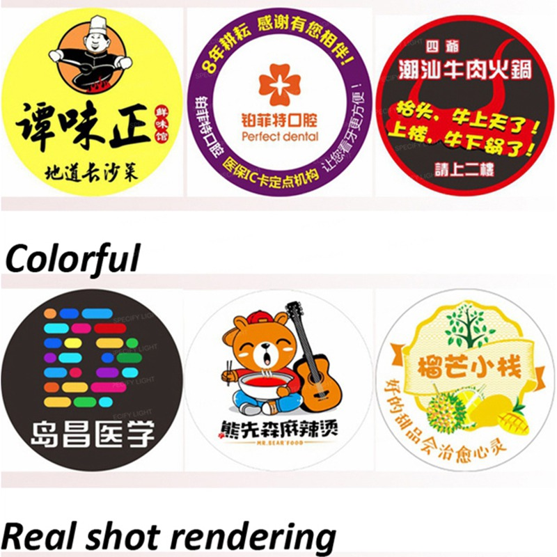 Customized Logo projector glass lens 37mm diameter shop mall KTV bar text pattern logo advertising ighting projection 3