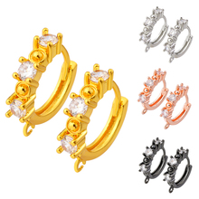 2020 charm jewelry classic handmade earring material, copper material DIY wholesale