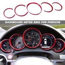 Auto Innen Zubehör Auto Dashboard Meter Ring Abdeckungen Trim Für Porsche Cayenne 958 2011 2018