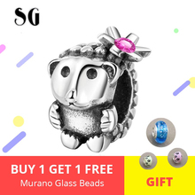 100% 925 Sterling Silver Cute Hedgehog beads animal charm fit Pandora Bracelet For Women DIY Jewelry Gift Free shipping цена