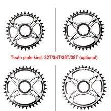 Meroca 32t/34t/36t/38t mountain bike oco integrado pedaleira da bicicleta placa de dente compatível com m6100/m7100/8100/9100