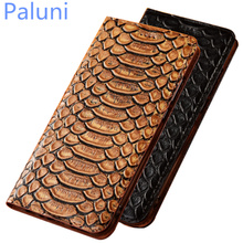 High-end Genuine Leather Business Phone Cover Card Holder Fo