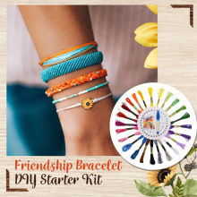 Handmade Jewelry Accessories Friendship Bracelet DIY Starter sewing Kit Braiding Tools(China)