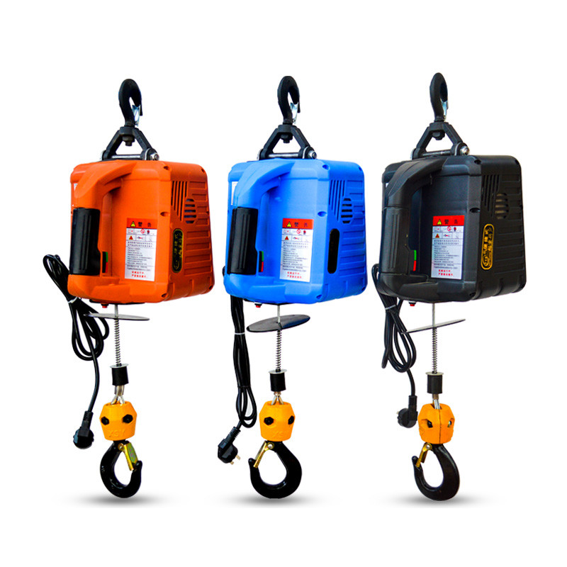 220V Portable Electric Winch 500KGX7.6M 200x19M Electric Hoist Winch With Wireless Remote Control Winch Traction Block