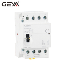 Free Shipping GEYA Manual Contactor 4P 40A 63A 2NO2NC 220V Din rail Household AC Modular