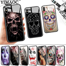 Grim Reaper Skull Glass Phone Case for Apple iPhone 11 Pro XR X XS Max 6 6S 7 8 Plus 5 5S SE