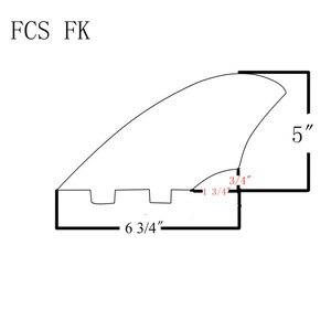 Image 5 - Uma barbatana central barbatanas de surf middel fin para fcs thruster barbatanas quilha barbatanas quillas acessórios prancha surf