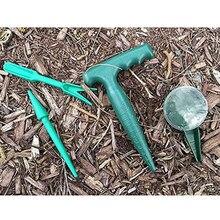 4 sztuk zestaw narzędzi ogrodowych Dibber instrukcja łatwy w użyciu roślin siewu przenośne użytku domowego Dig Hole Transplanter plastikowe Sower Widger