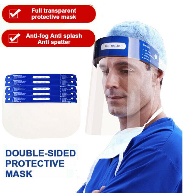 Professional Clear Full-Face Shield Anti Saliva Splash Protection Transparent Isolation Protective Safety Mask Shield