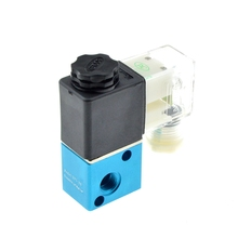 Pneumatic Air Solenoid Valve 2 Position 3 Port Way 1/8 BSP Female Thread NC Normally Closed Electric Magnetic Valve 12V 24V 220V 1 8inch 12vdc 2 way normally closed electric solenoid air valve