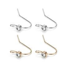 20Pcs Copper Earring Hooks Crystal Findings DIY Accessories