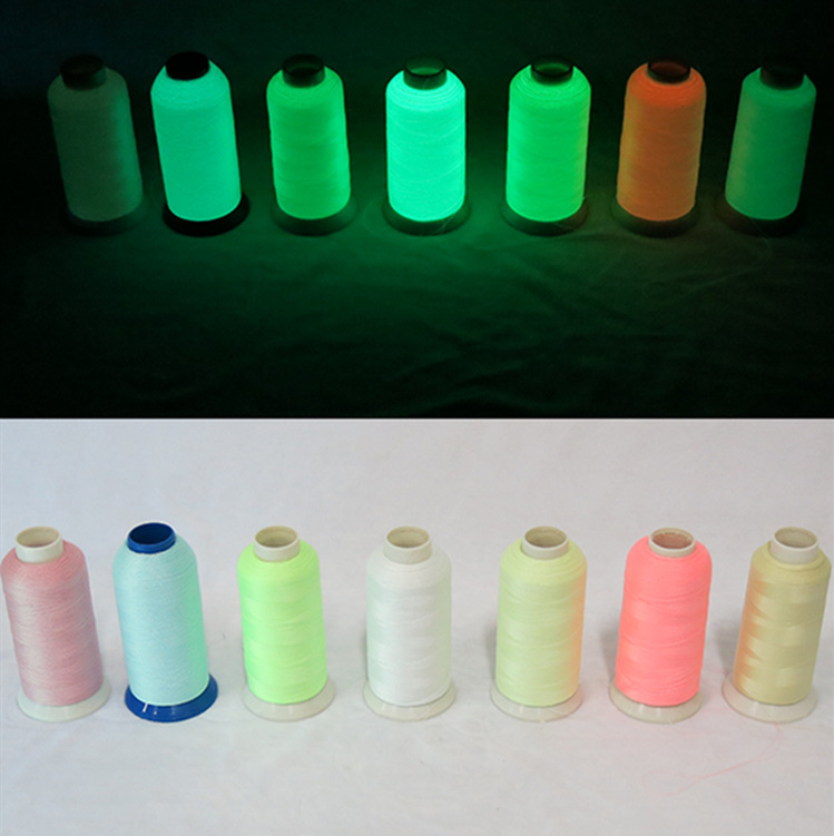 Manufacturers Direct Supply 150D Of The Luminous Self-Luminous Storing Yarn Variety Colors Available Weaving Ye Guang Sheng