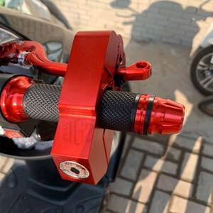 Image 2 - Motorcycle CNC Aluminum Handlebar Lock Theft Protection Brake Lever Locks Universal for Yamaha Suzuki Aprilia KTM BMW Harley