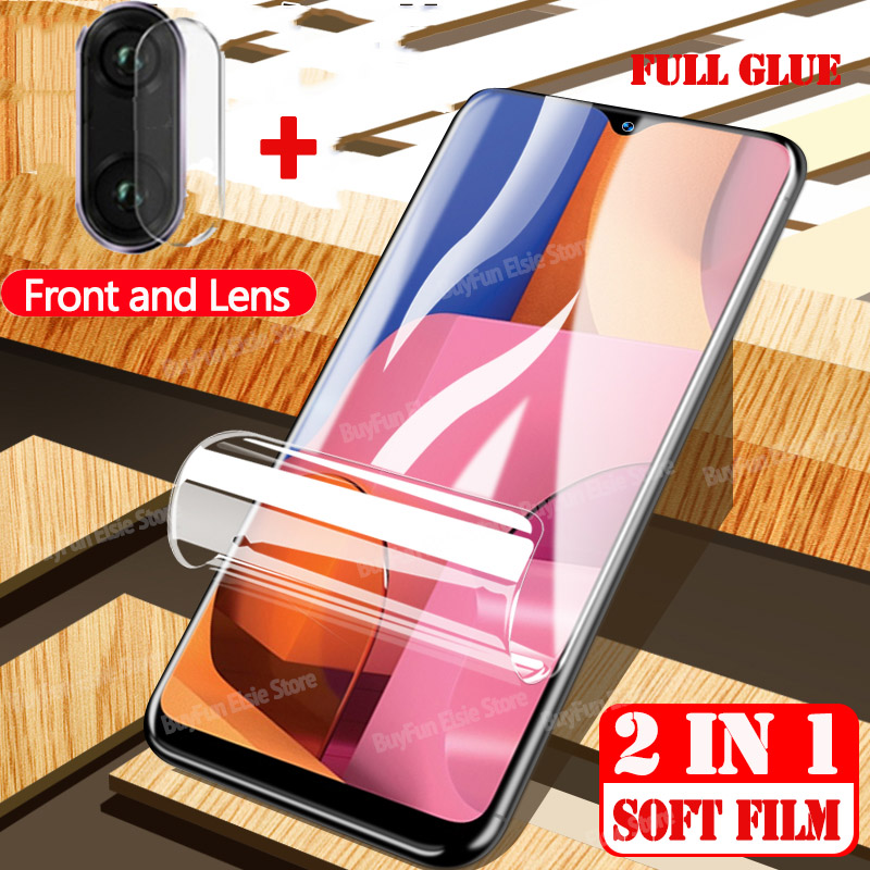 2 in 1 Protective Film On For Samsung Galaxy A10E A20E Screen Protector For Samsung A 10E 20E A102 A202 Hydrogel Film Not Glass