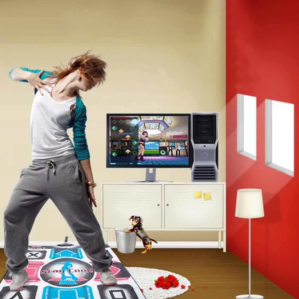 Antiderrapante durável desgastar-resistente dança passo almofada almofada almofada dançarino cobertor para computador com usb para musculação fitness