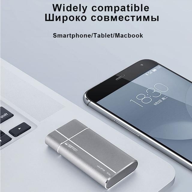 Stmagic mini External SSD Metal portable Solid State Drive 128GB 256GB 512GB USB3.1 Type-c Hard drive for PC Smartphone 4