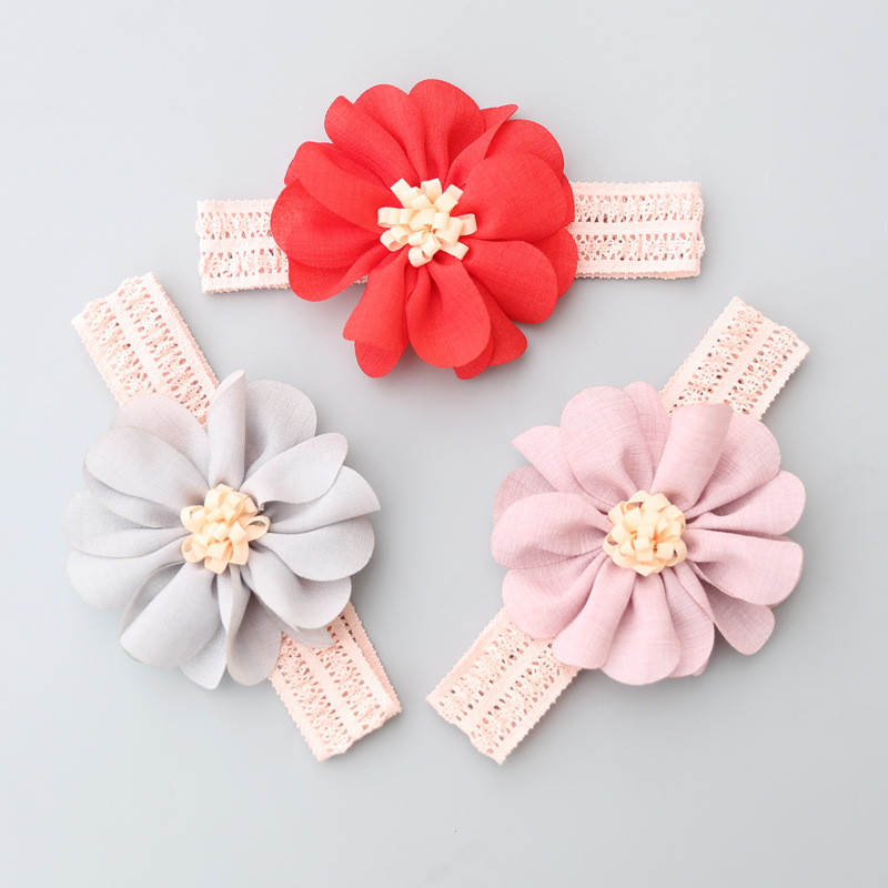 Floral Baby Girl Headbands Newborn Baby Elastic Princess Hairbands Kids Flower Fresh Style Cute Hair Accessories