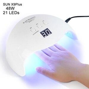 Image 1 - 42W Nail Lamp Dual Light UV LED Dryer for Manicure Curing Gel Polish Lamp 30s/60s/99s Low Heat Mode Nail Art Tools LASUNX9Plus 1