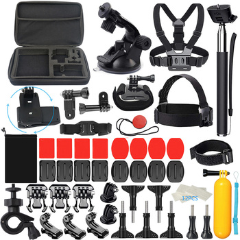 58pcs/set Replacement for GOPRO hero5/4/3/2 Camera Outdoor Sports Kit Action Camera Selfie Stick Accessory