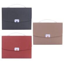 Portable Handheld A4 Business Document Organ Bag File Folder Storage Organizer Student Test Paper Holder Pack