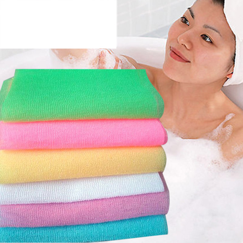 Dropshipping Nylon Wash Cloth Bath Towel Beauty Body Skin Exfoliating Shower Bathroom Washing SMJ