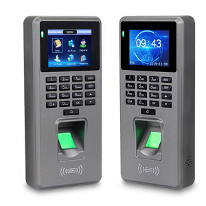 Fingerprint Access Control Attendance Machine Password Employee Checking-in Time Clock Recorder RFID Door Controller USB Offline