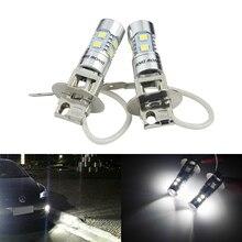 ANGRONG 2x H3 453 Birne High Power LED Projektor Scheinwerfer Nebel Licht Tagfahrlicht DRL Weiß (CA305)