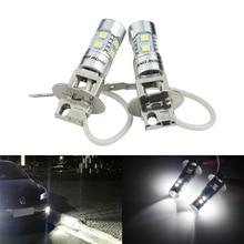 ANGRONG 2x H3 453 הנורה גבוהה כוח LED מקרן פנס ערפל אור בשעות היום ריצת אור DRL לבן (CA305)