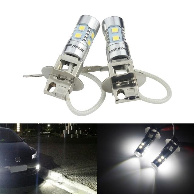 ANGRONG 2x H3 453 ampoules, phare projecteur LED haute puissance, lumière anti brouillard de jour, blanc (CA305)