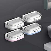 ABS Plastic Detachable Soap Storage Organizer Double Layers Dish Adhesive Holder Suction Cup Tray Bathroom Decor D40
