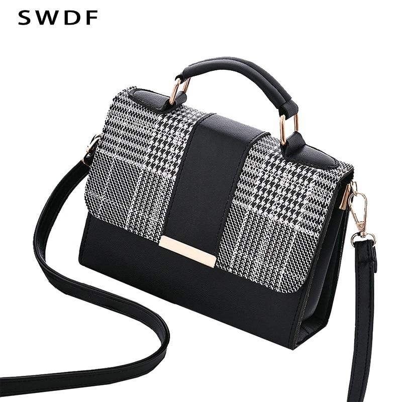 SWDF 2019 Summer Fashion Women Bag Handbags For Travel PU Shoulder Bag Small Flap Crossbody Bags For Women Messenger Bags Purse