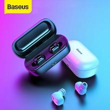 Baseus W01 TWS Bluetooth אוזניות אלחוטי אוזניות Bluetooth 5.0 סטריאו בס אלחוטי אוזניות עם HD מיקרופון עבור טלפון