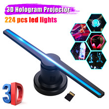 3D Hologram Projector Advertising Display Fan A3 Photo Video Air Holographic Machine Player Remote Control Bracket 16GB TF Card(China)