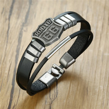 Bracelet Hot-Route Black Bangle Male Jewelry Motorcycle Modyle with 66/60s/Road/.. Men